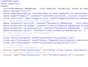 website maken in html